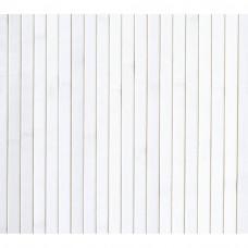 Бамбукові шпалери білі, полоса 17 мм.