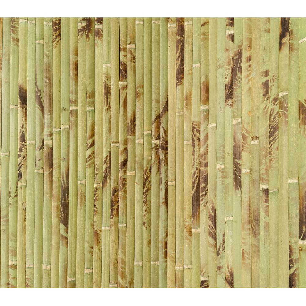 Бамбукові шпалери черепахові, зелені, полоса 17 мм.  - 1,5м