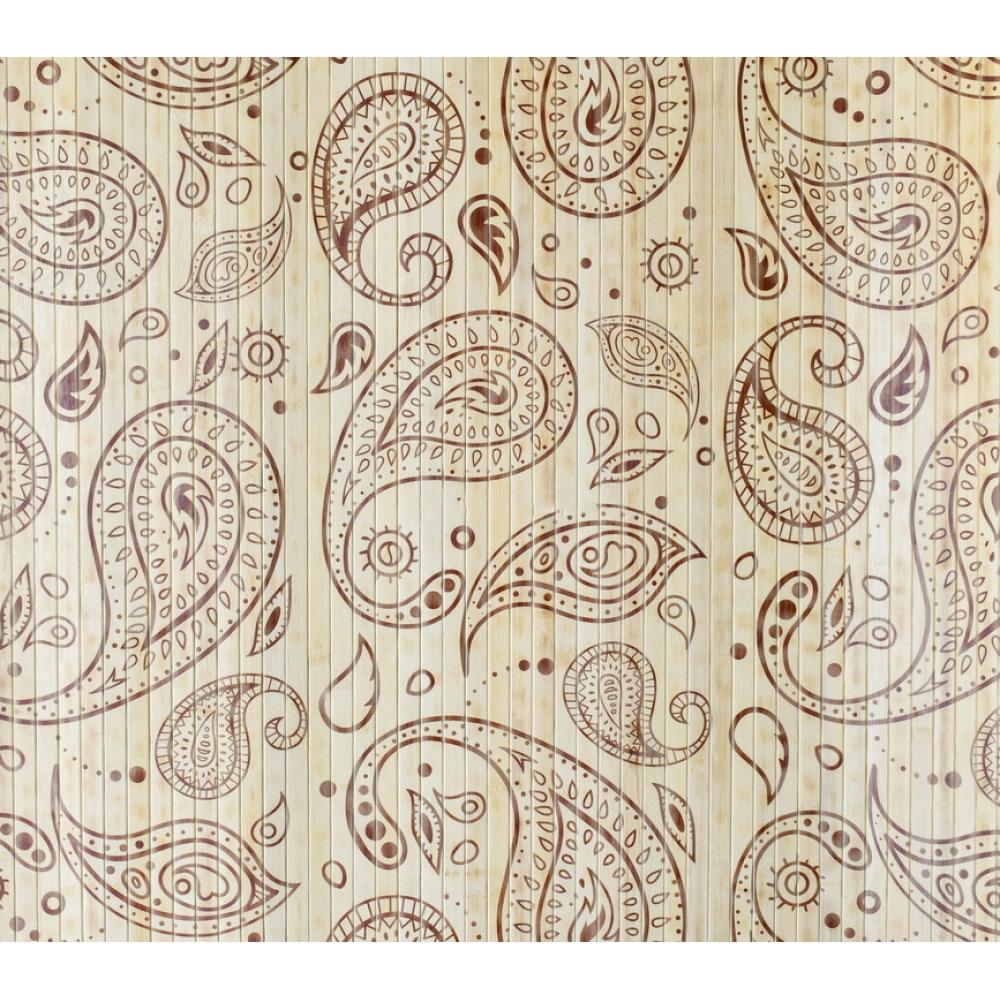 Бамбукові шпалери Турецький огірок, світлі, полоса 17 мм, - 1,5 м
