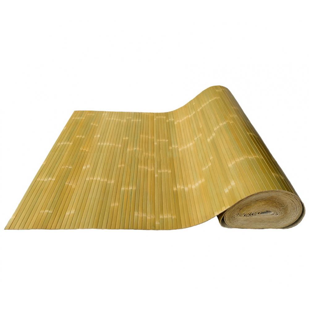 Бамбукові шпалери блідо-зелені, лак., мат., полоса 17 мм. - 2,0 м