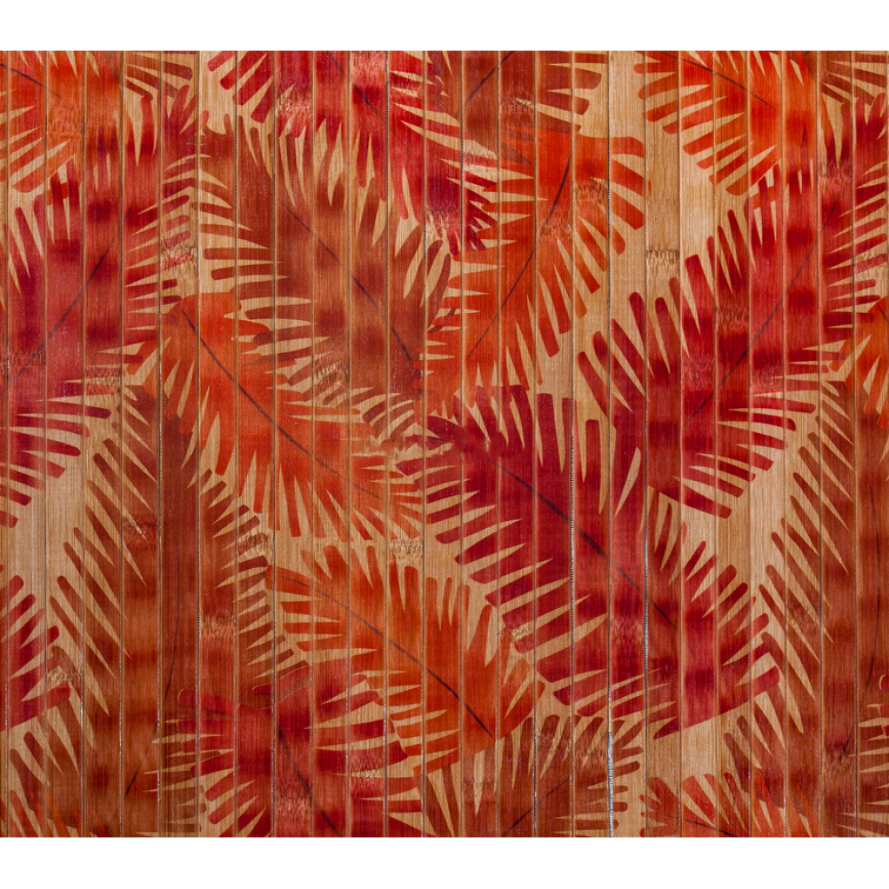 """Бамбукові шпалери """"Папоротник"""", полоса 17 мм. - 1,5 м"""