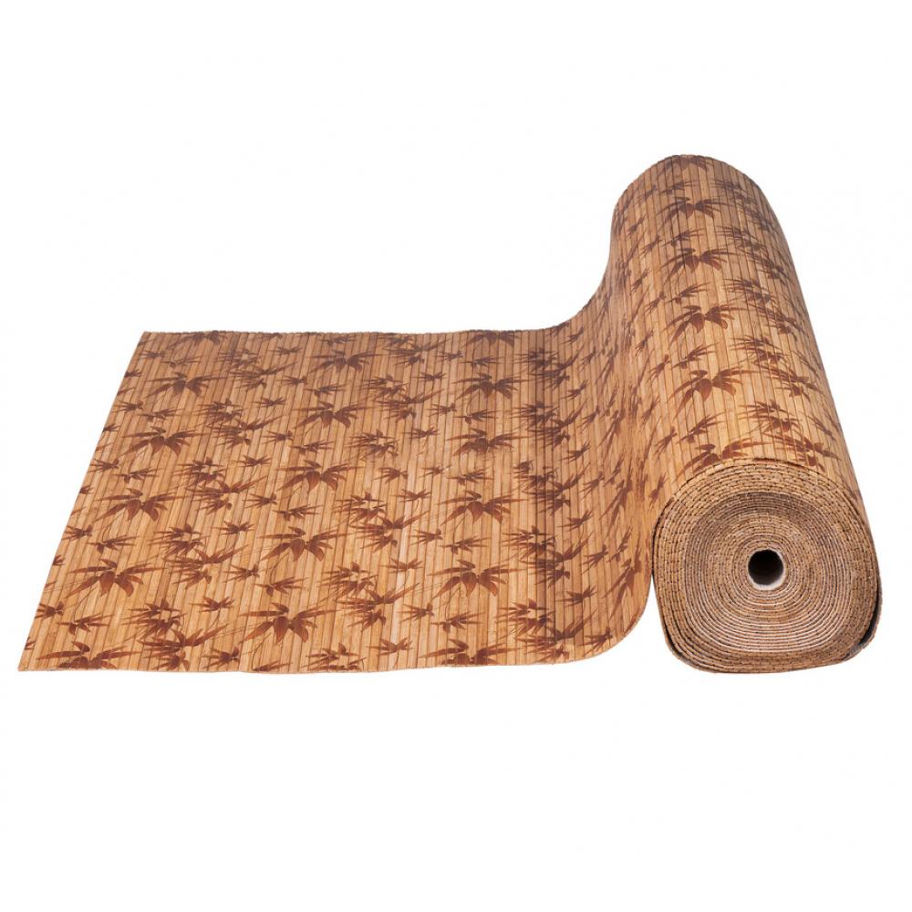 Бамбукові шпалери темні, нелак., полоса 8 мм, лІстья бамбука - 0,9 м