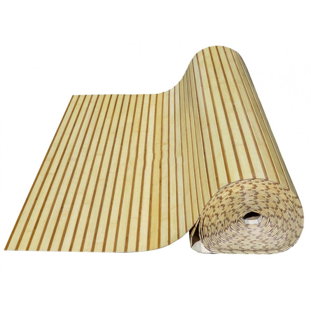 Бамбукові шпалери світло/темні  нелак., полоса 17/5 мм. -2,5м