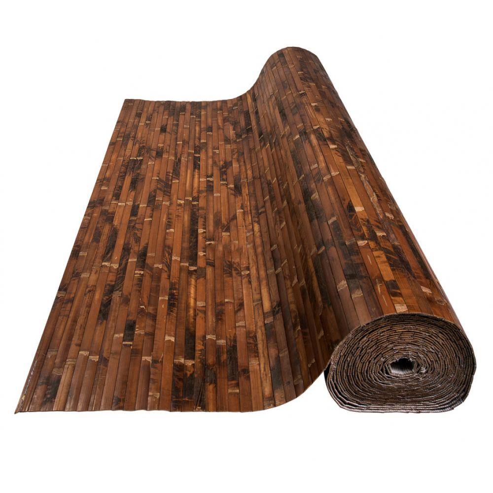 Бамбукові шпалери черепахові, темні, BW 211, полоса 17 мм.  - 2,5м
