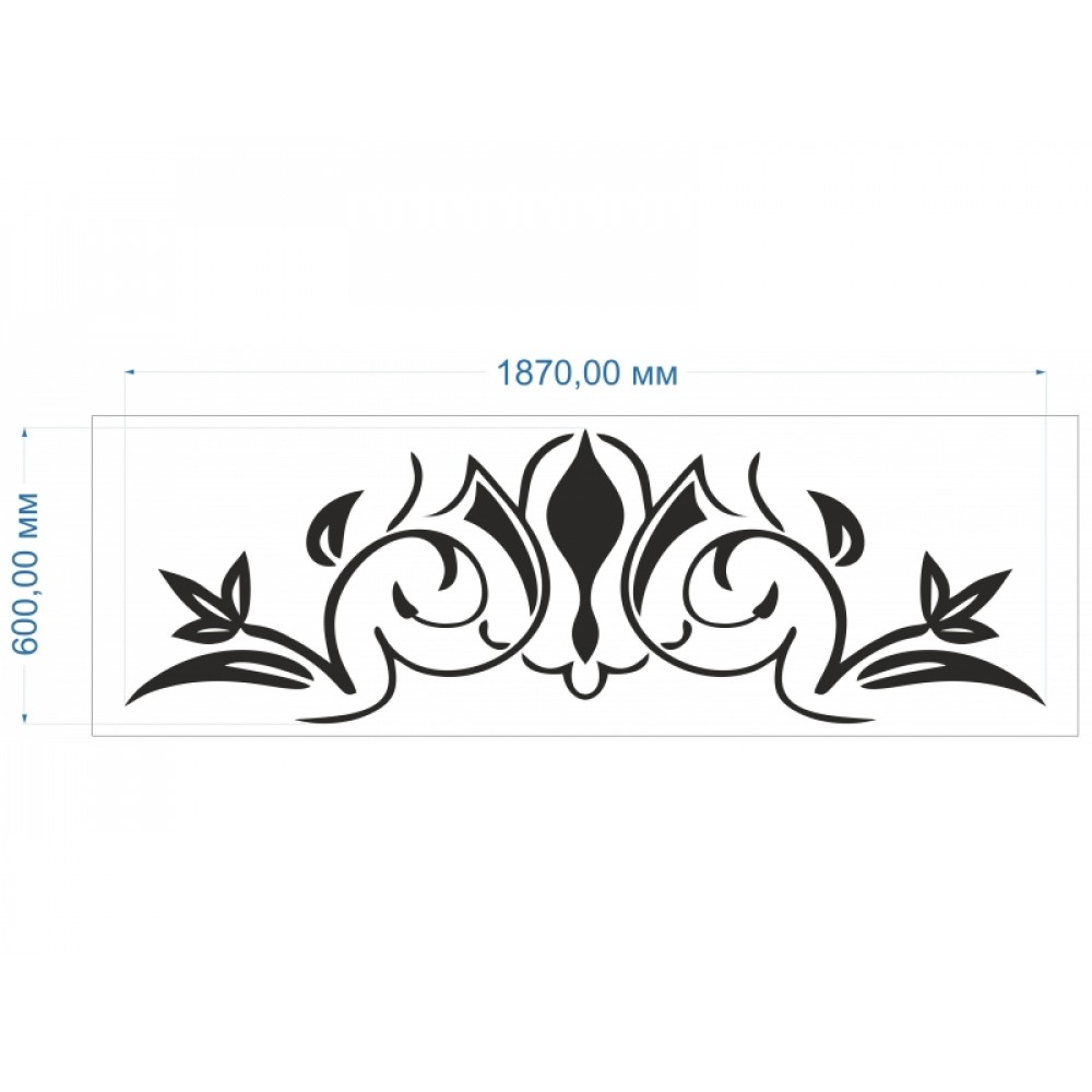 Трафарет Орнамент 187 * 60 см