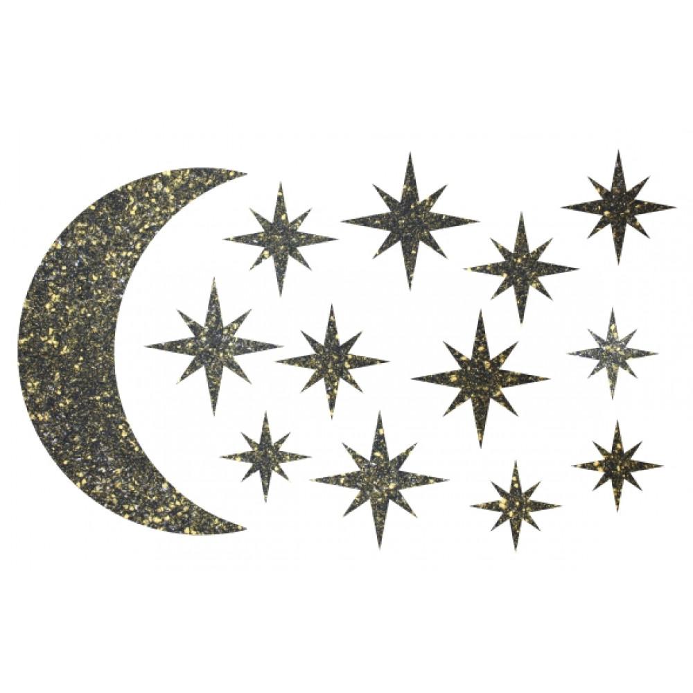 Декор з рідких шпалер Зоряне небо 1