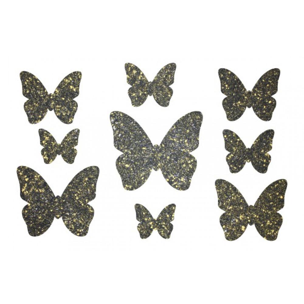 Декор з рідких шпалер Метелики  1