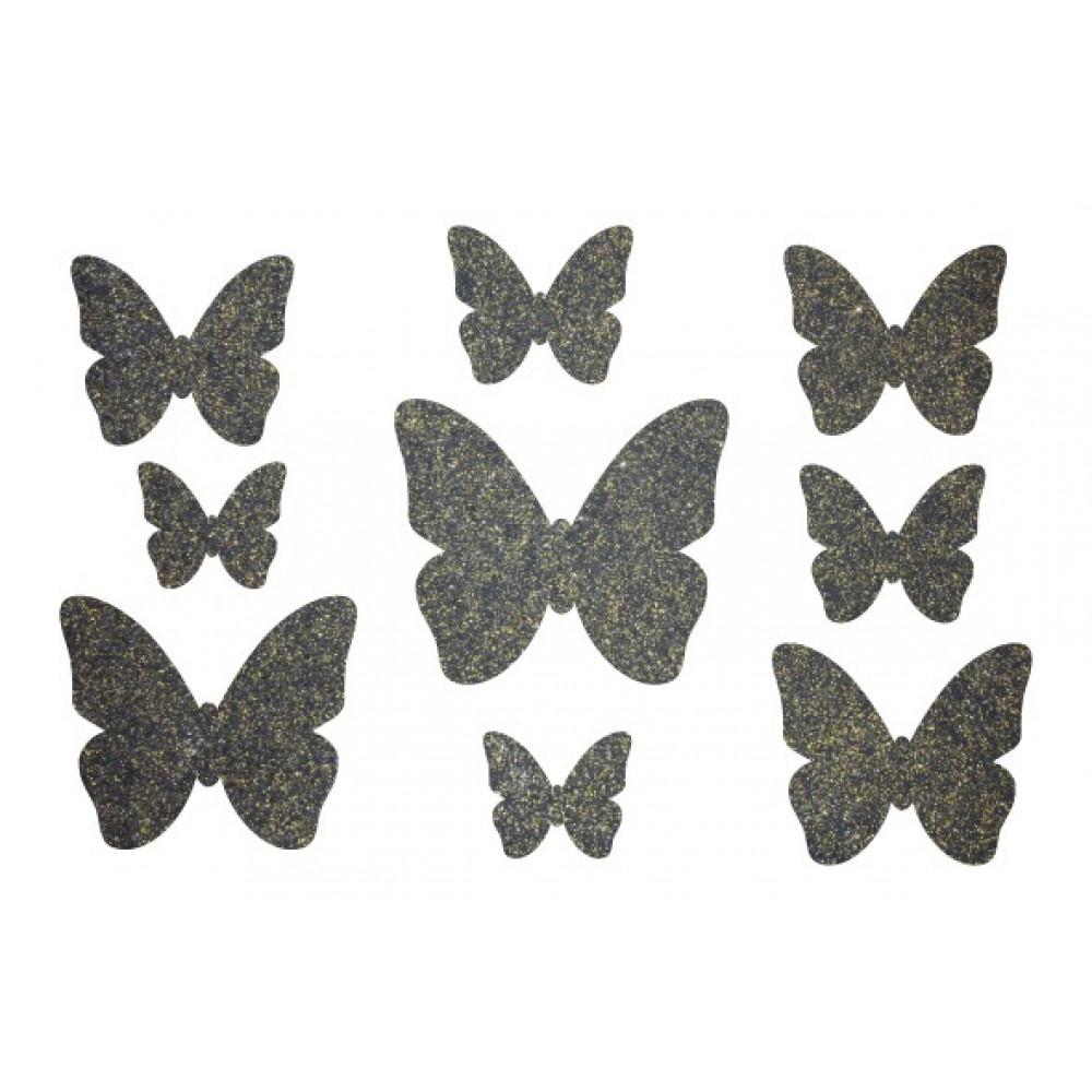 Декор з рідких шпалер Метелики  3
