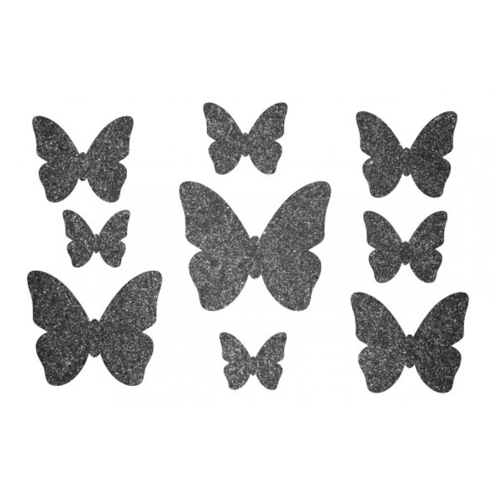 Декор з рідких шпалер Метелики  4