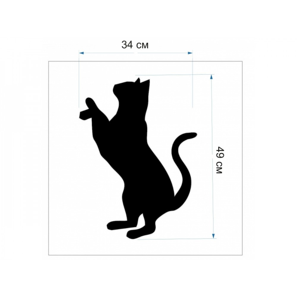 Трафарет для рідких шпалер - Кот