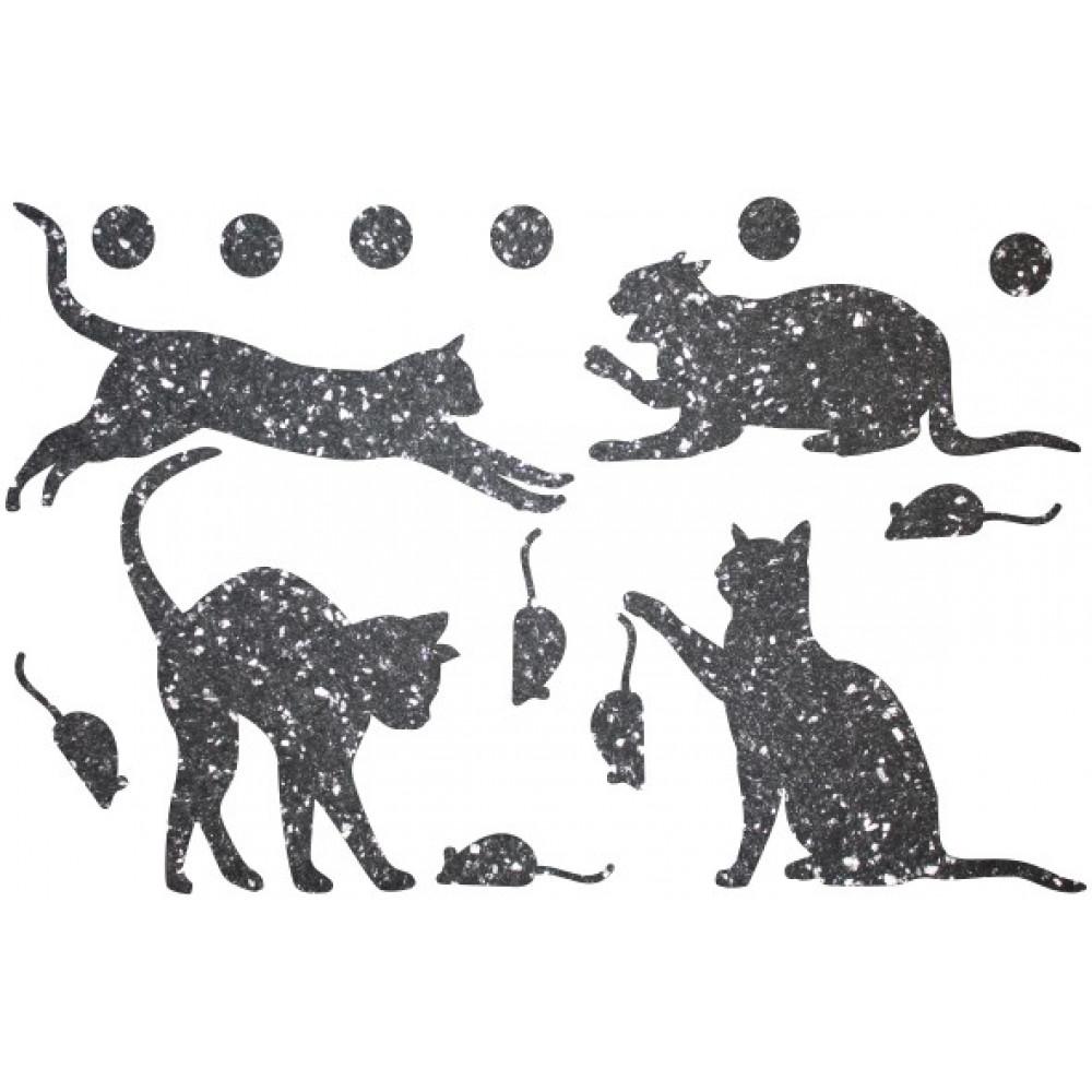 Декор з рідких шпалер Коти 2