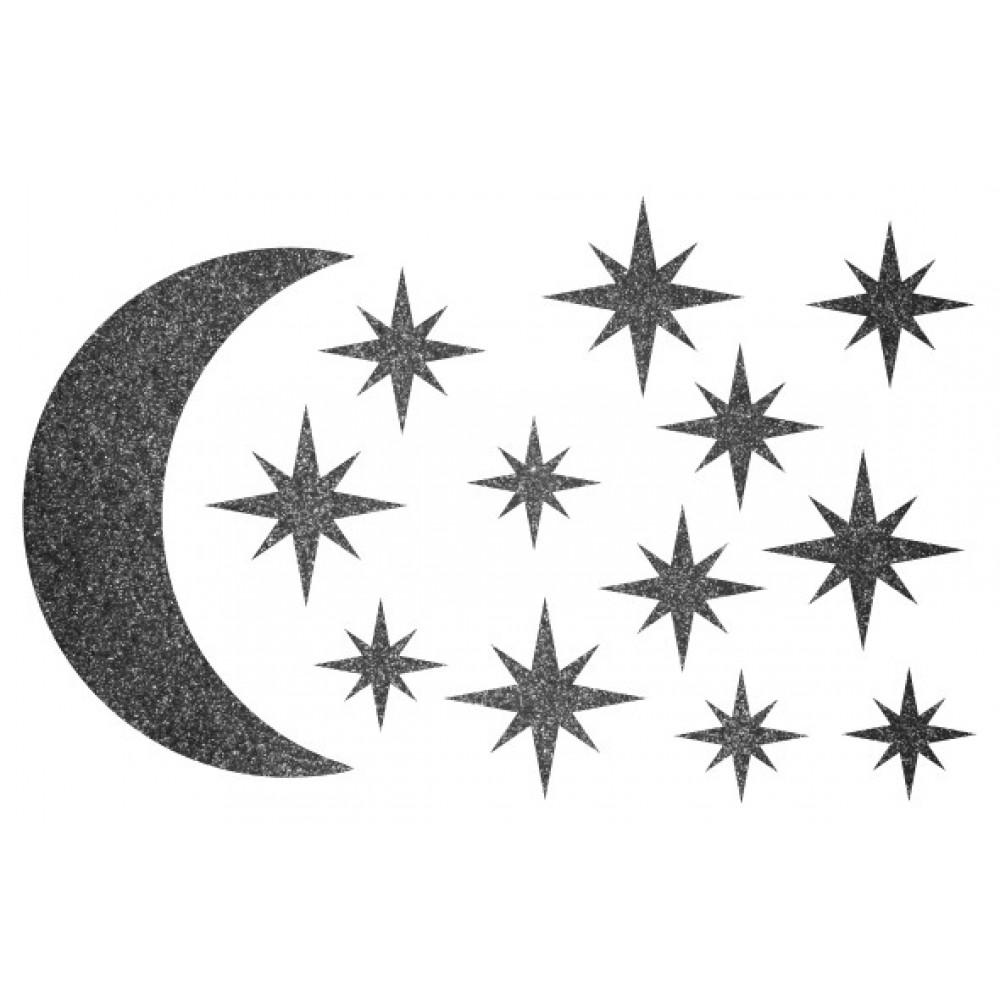 Декор з рідких шпалер Зоряне небо 4