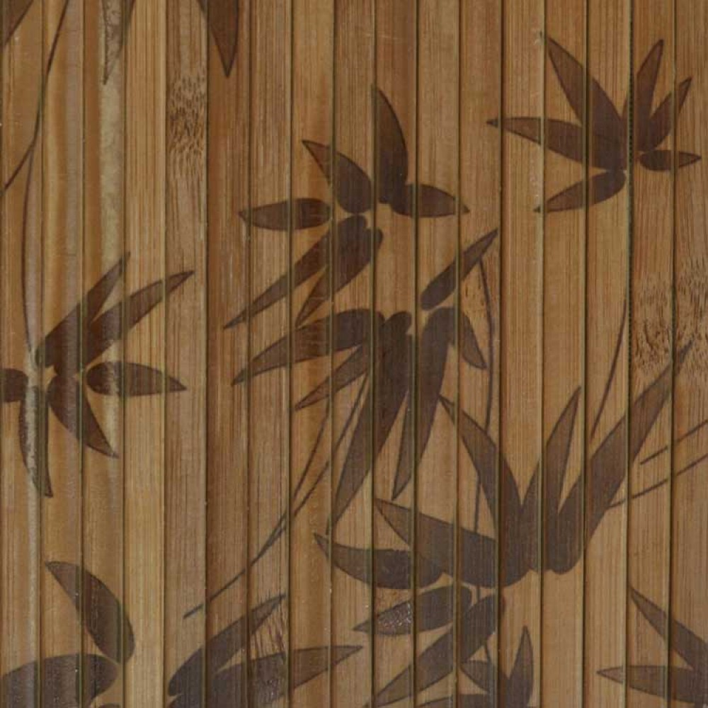 Бамбукові шпалери темні, нелак., полоса 8 мм, листя бамбука - 1,5 м