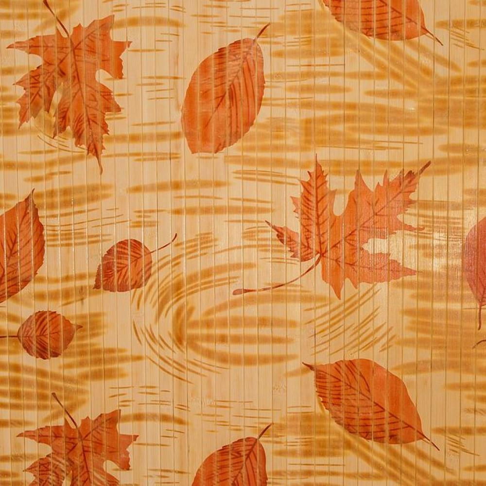 Бамбукові шпалери світлі, нелак., полоса 17 мм, осень - 0,9 м