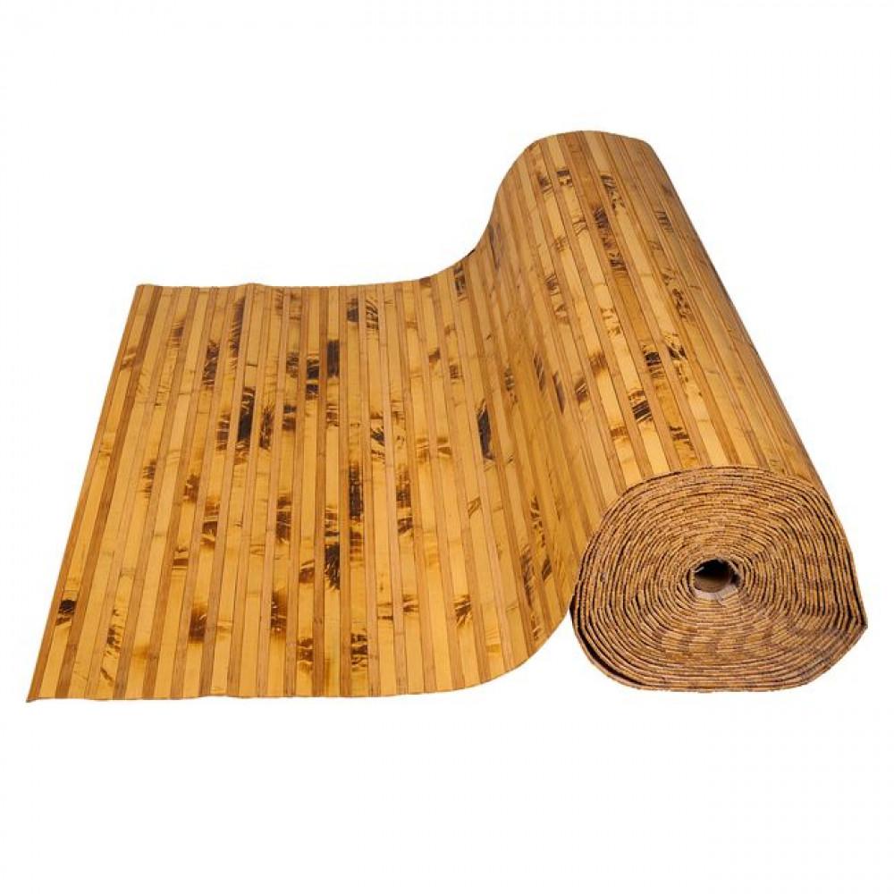 Бамбукові шпалери черепахові/темні, пропилені, нелак., полоса 12/8 мм. - 2,0 м