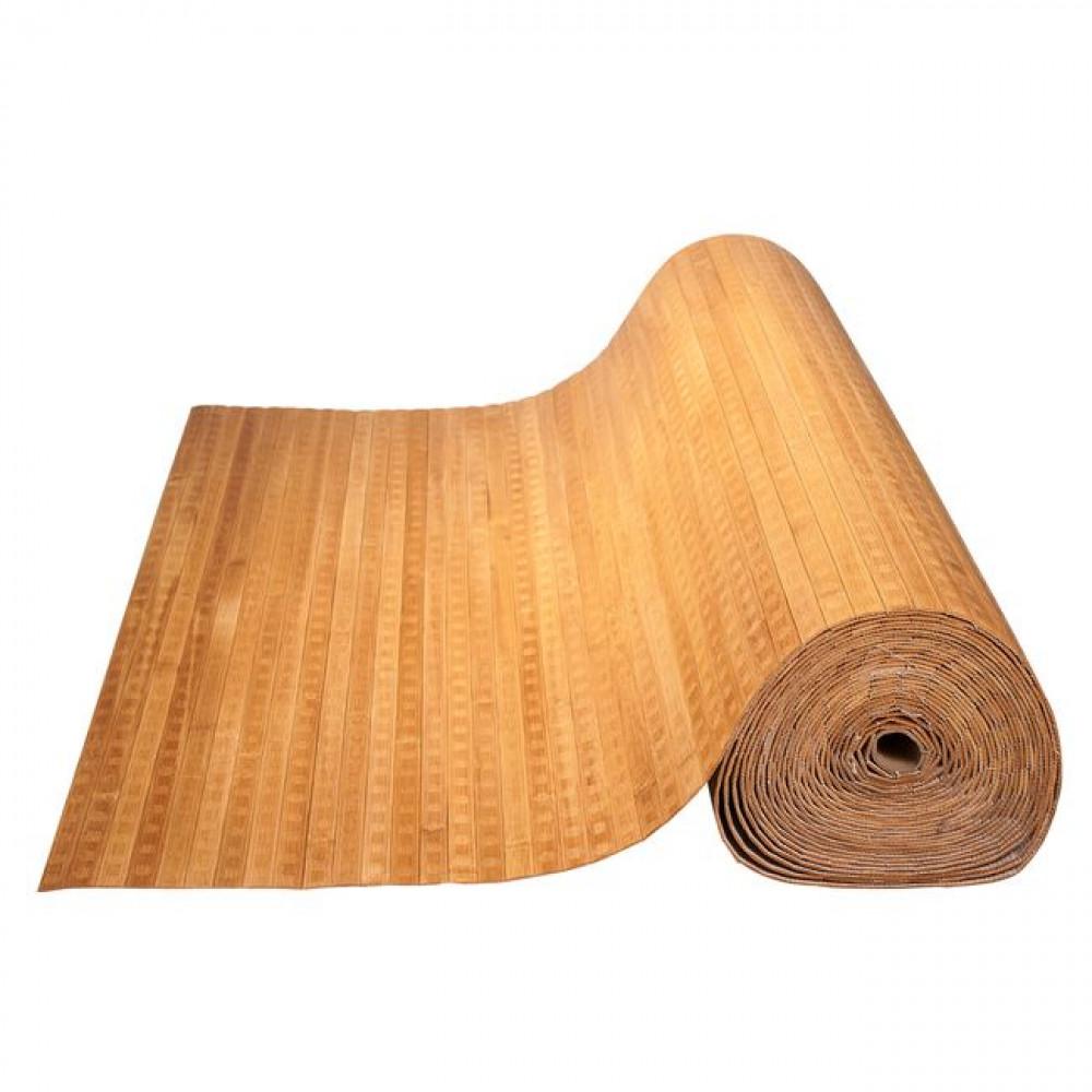 Бамбукові шпалери темні, пропилені, квадратна зірка, полоса 17 мм. - 1,5 м