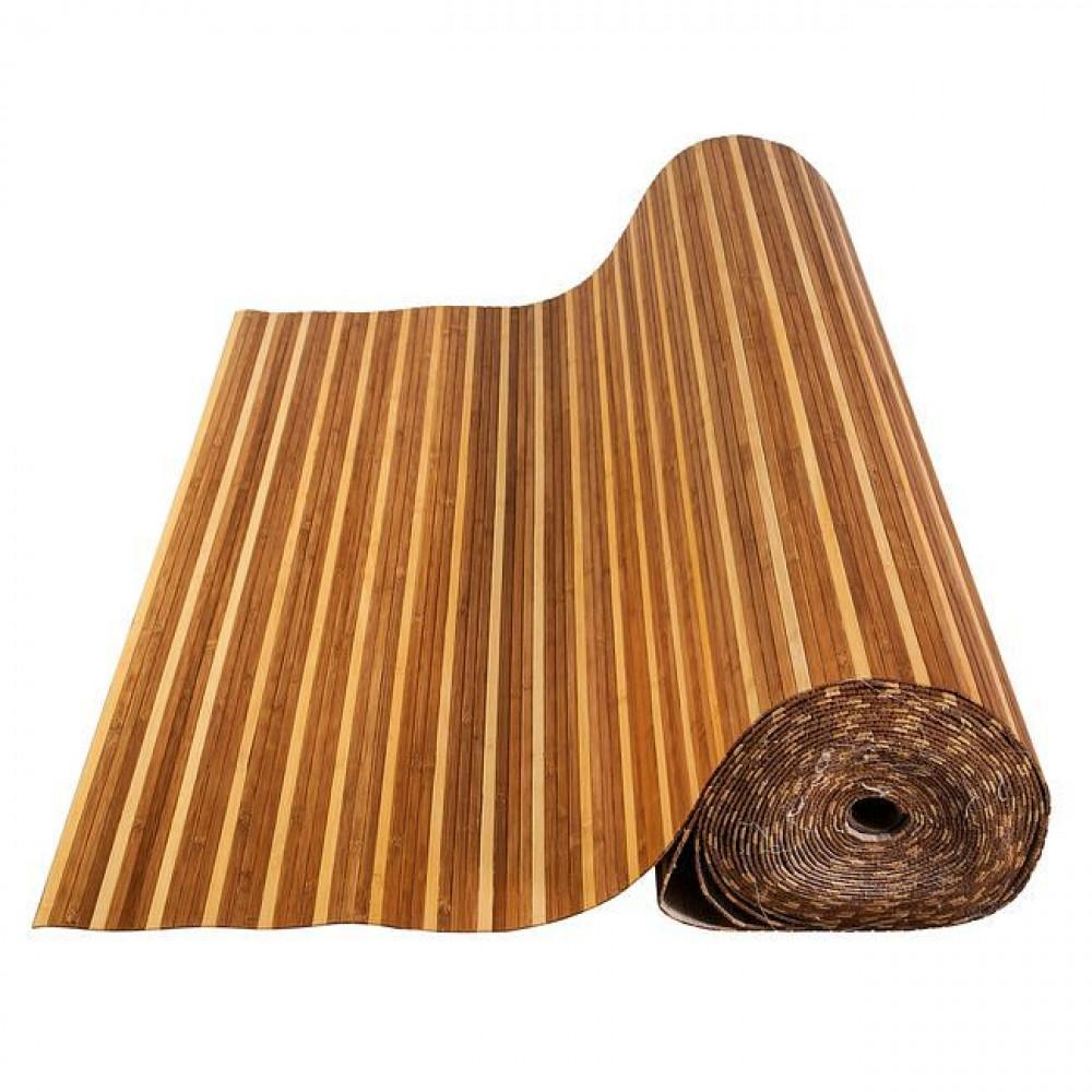 Бамбукові шпалери темно/світлі, нелак., полоса 8 мм. - 0,9 м