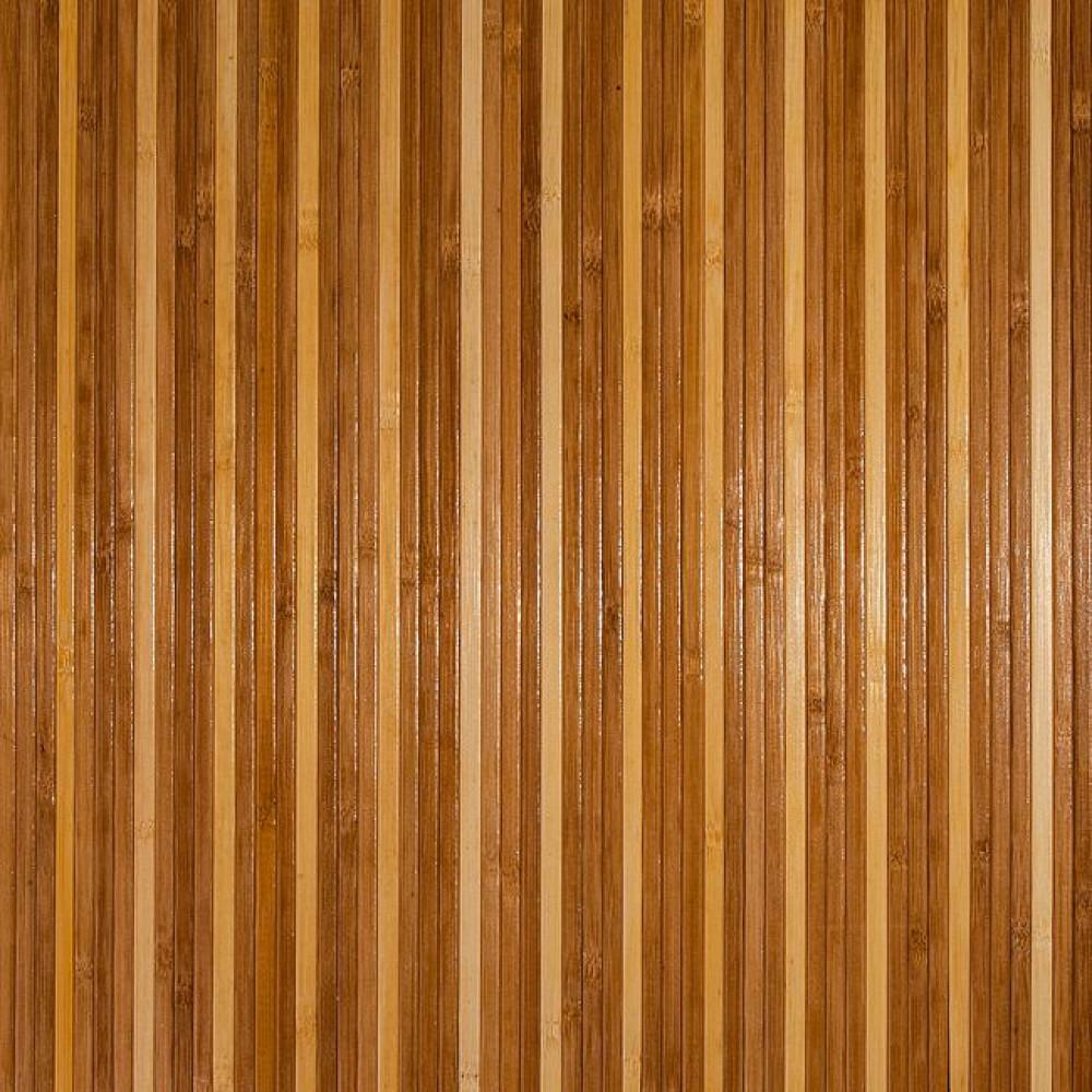 Бамбукові шпалери темно/світлі, полоса 17/5 мм. - 2,5 м