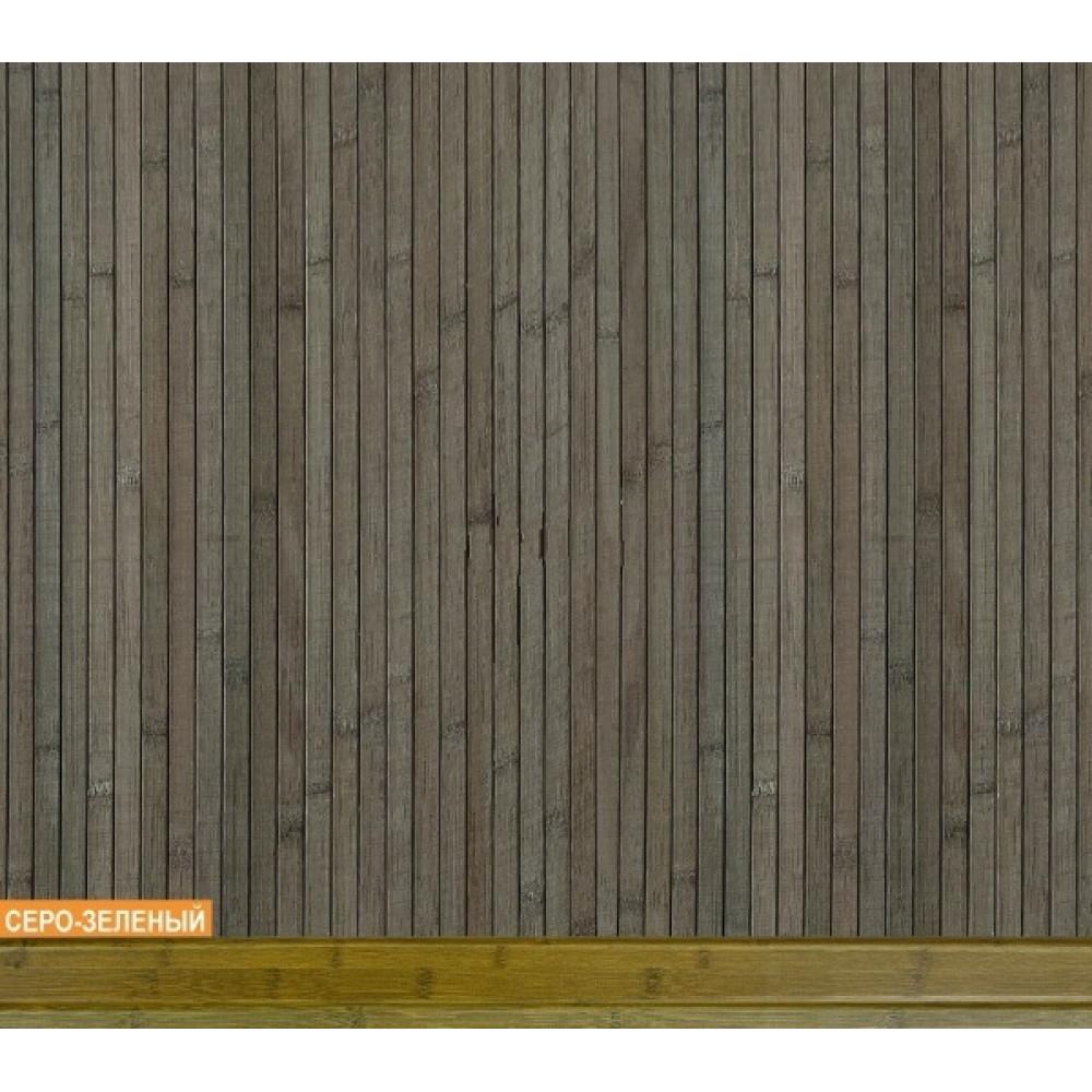 Бамбукові шпалери сіро-зелені, полоса 17 мм. - 0,9 м