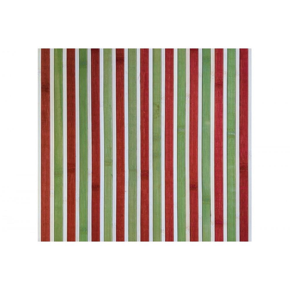 Бамбукові шпалери Червоно/зелені, нелак., полоса 17 мм. - 0,9 м